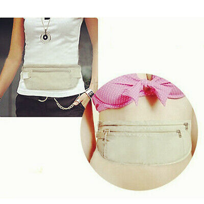 Travel Waist Pouch Hidden Security Wallet Passport Holder Secret Money Belt Bag