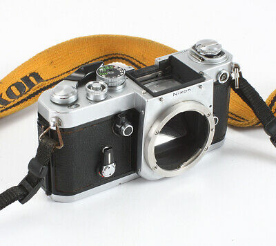 Nikon F2 Chrome Body, Plain Focusing Screen, Release Problem, As-Is/198648
