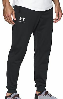 Under Armour Sportstyle Mens Training Pants Black Stylish Gym Workout Joggers UA