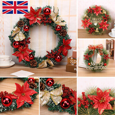 Christmas Wreath For Xmas Home Party Door Wall Flower Garland Ornaments W