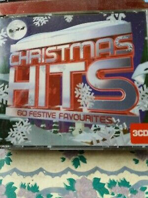 CHRISTMAS HITS 60 FESTIVE Favourites  CD ALBUM all on 3 cds