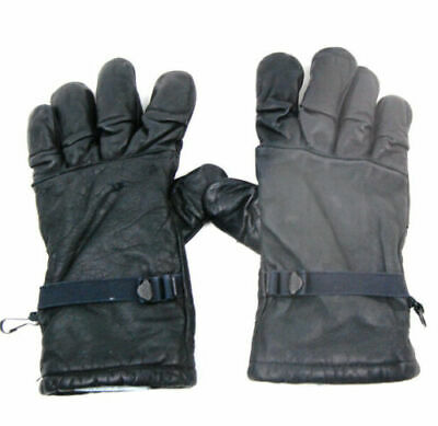 US Military Leather Gloves Men/Women Intermediate Cold Wet Weather Lined Sz 4 L