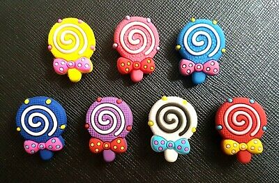 7 x Lollies Lolly Sweets Shoe Charms Made For Croc shoes Crocs Jibbitz Charm