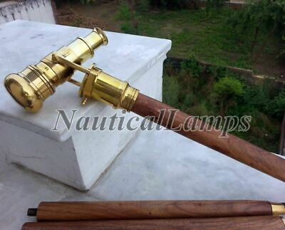 Solid Brass Telescope Walking Cane Stick Vintage Hidden Spy Telescope for Men