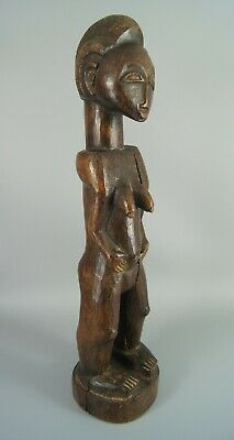Good Old Baule Standing Female Blolo Bla Figure From The Ivory Coast
