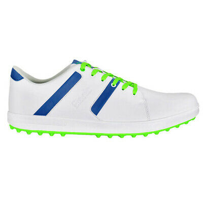 NEW Mens Etonic G-SOK 2.0 Waterproof Golf Shoes White/Lime/Blue -Choose Your Sz!