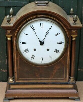 Very Large Old Wooden Bracket Type W&H Sch Ting Tang Mantel Clock