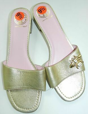 new = WOMENS gold slip on bee sandals shoes = LILLY PULITZER = SIZE 9.5 = bf37