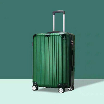 24'' Luggage Travel Set Bag ABS Trolley 360° Spinner Suitcase Blackish Green