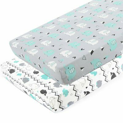 Pack n Play Stretchy Fitted Pack n Play Playard Sheet Set-Brolex 2 Pack Portable