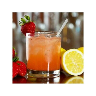 Straw Cocktail Clear 140mm 5000 Pk  Plastic