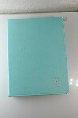 Authentic Tiffany & Co Logo Leather 2018 Daily Planner Address Book New Defects