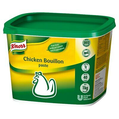 Knorr Gluten Free Chicken Paste Bouillon - Large Catering 1kg Tub - Makes 40 Ltr