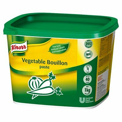 Knorr Gluten Free Vegetable Paste Bouillon - Large Catering 1kg Tub Makes 40 Ltr