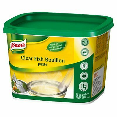 Knorr Gluten Free Clear Fish Paste Bouillon - Large Catering 1kg - Makes 40 Litr