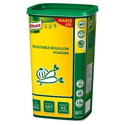Knorr Vegetable Powder Bouillon - Large Catering 1.2Kg Tub - Makes 60 Litres