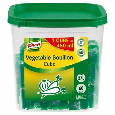 Knorr Vegetable Bouillon Cubes - Large Catering Tub - 60x 450 ml Makes 27 Litres