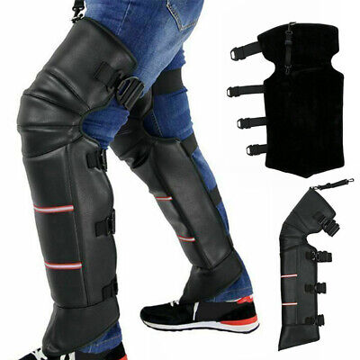 1 Pair Anti-wind Warm Motorcycle Knee Cover PU Leather Thick Winter Outdoor