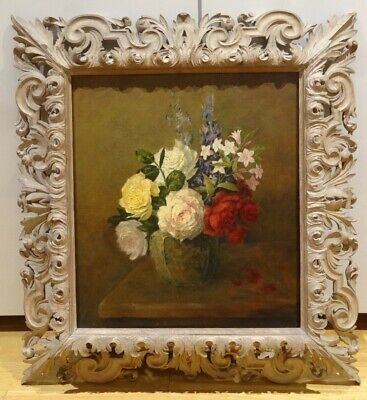 19th Century French Impressionist Still Life Flowers Roses DE TOULOUSE-LAUTREC