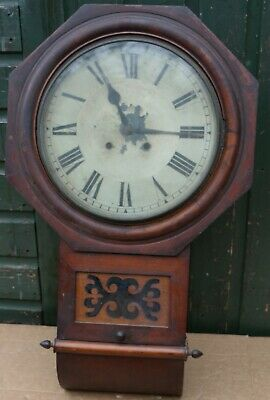 Old Very Dirty But Fancy Looking Large Wall Clock To Restore