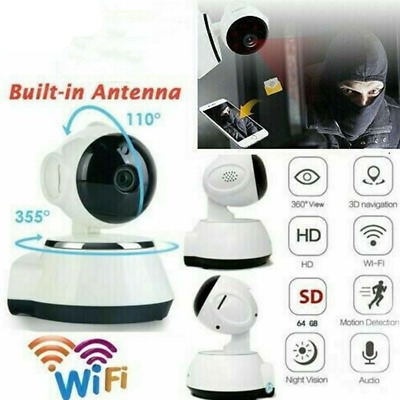 1080P HD Wireless WIFI IP CCTV Camera Smart Home Security Visione notturna