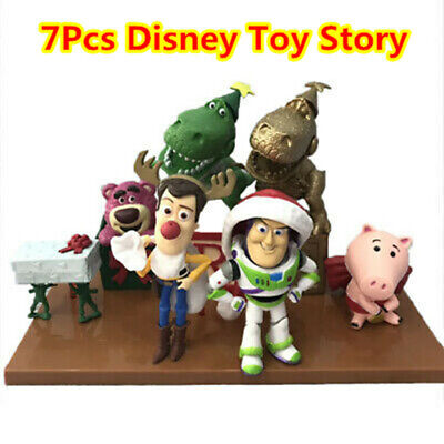 7Pcs Disney Toy Story Buzz Lightyear Woody Action Figure Gift Christmas Edition