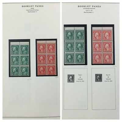 UNITED STATES BOOKLET PANE Collection, years 1917//1981. MNH. CV $862. (BJS)
