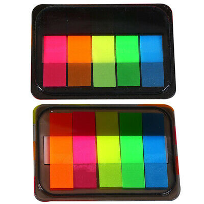 125pcs Page Stationery Strips Neon Students Colored Label Tabs Index Marker