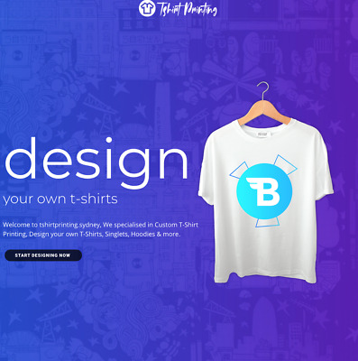 DTG / SCREEN PRINTING T-Shirt Printing Website / Ecommerce For Sale