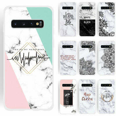 For Samsung Galaxy S10 Plus Printed Marble Flower Shockproof Phone Case Cover