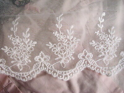 6yards Scallop Embroidered lace Lampshade Trim 45mm Tablecloth  Curtain #471