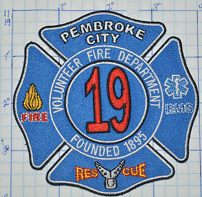 "error Fire North Carolina 1895 4/"" x 4/"" size fire patch Pembroke City"