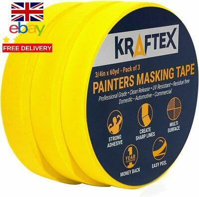 Painters Tape 180Yrd X ¾ Inch For Pro Painting [Clean Lines Everytime] 3 X 60Yr
