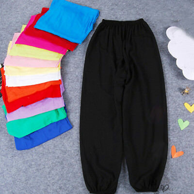 Kids Boys Girls Ali Baba Long Pants Harem Yoga Dance Trousers Joggers Bottoms
