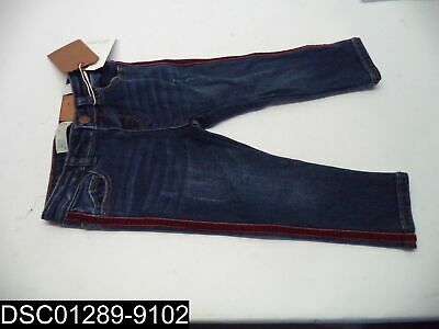 NWT: Size 12-18 Month Zara Baby Girls Jeans with Red Velvet Trim