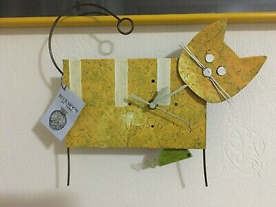 Pendulum Cat Animal Wall Clock With Swinging Mouse - Ideal Christmas Present
