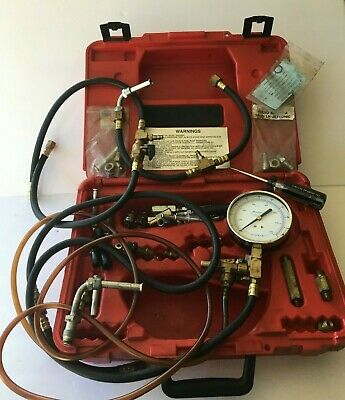 Snap-On Tools Fuel injection Pressure Gauge Test Kit with extra connectors