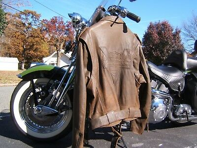 Harley Davidson Heritage Leather Jacket Brown Xx-Large 2Xl