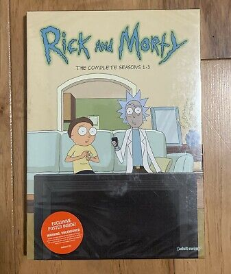 Adult Swim: Rick and Morty DVD (The Complete Seasons 1-3) **GREAT DEAL**