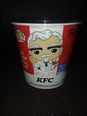 Funko Exclusive Pop! Ad Icons: KFC - Gold Colonel Sanders + Pop! Tee Size XL NEW