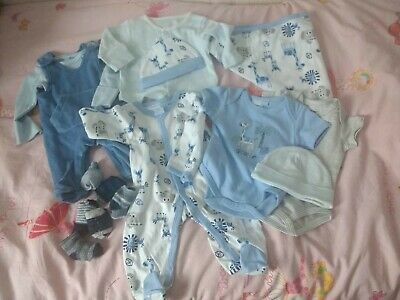 Baby boy Sleepsuit blanket bundle 0 3 months - NEW without Tags