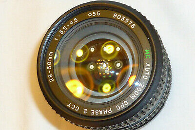 MC auto Zoom CPC PHASE 2 CCT 28-50mm 1:3.5-4.5 Lens for Pentax K MOUNT camera *