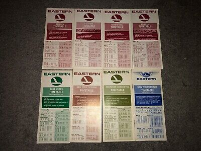 8 1970s 1980s Eastern Airlines Airplane Timetables New York Florida Georgia Ex