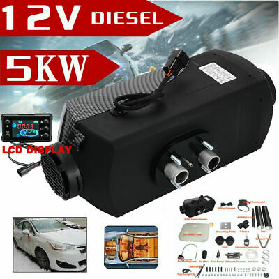 12V 5KW LCD Monitor Air diesel Fuel Heater 5000W PLANAR for Trucks Bus Boats Car