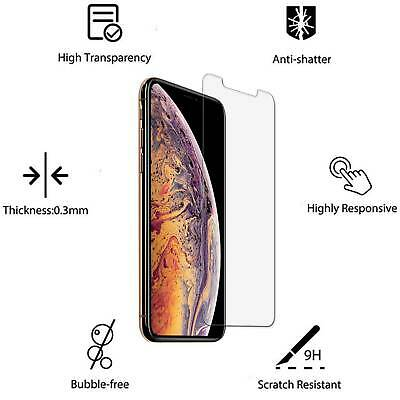 3-Pack For iPhone 11 Pro 6s 7 8 Plus X Xs Max XR Tempered GLASS Screen Protector