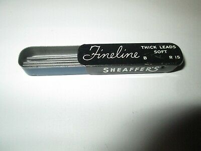 Vintage Sheaffer's Fineline Thick Pencil Leads Soft B R15 Advertising Tin