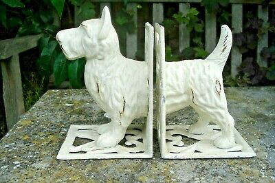 Cast Iron Bookends. Scotty Dog Terrier