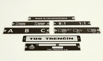 Thread and feed chart in metric system for Lathe TOS TRENCIN SN 50
