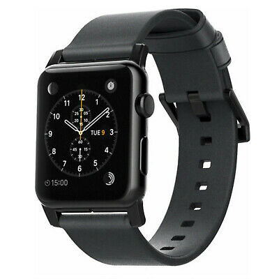 NEW Nomad Modern Leather Watch Strap for Apple Watch 42mm Slate Gray black