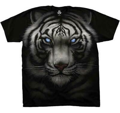 Brand New Men's Adult Majestic White Tiger Nature & Wildlife Printed T-Shirt XL